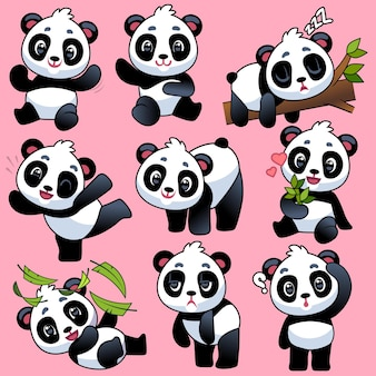 Illustration de conception de panda mignon
