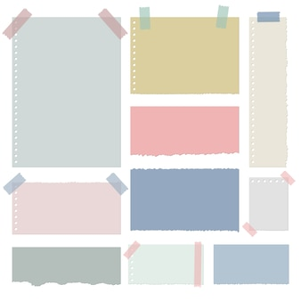 Illustration de conception de papier coloré déchiré isolé sur fond blanc