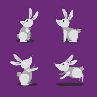Illustration de la conception de personnage de lapin