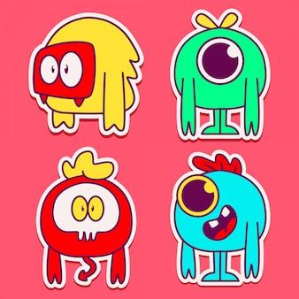 Illustration de conception de personnage monstre mignon