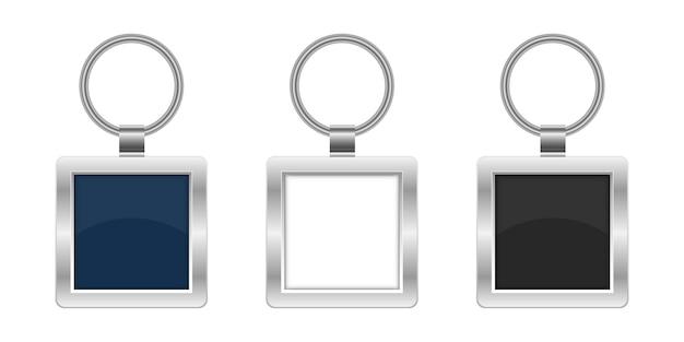 Illustration de conception de porte-clés isolé sur fond blanc