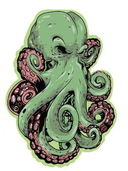Illustration de conception de poulpe