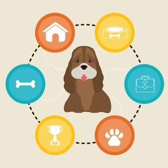 Illustration de conception pour animaux de compagnie