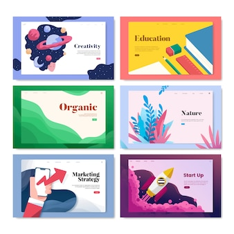 Illustration de conception pour le modèle flyer coloré