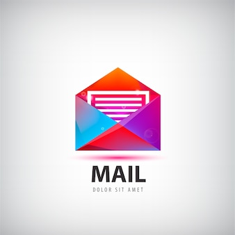 Illustration de conception de signe e-mail enveloppe