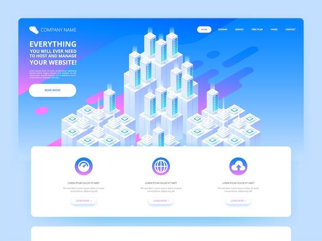 Illustration de conception de site web