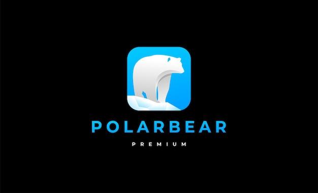 Illustration de conception de symbole logo ours polaire