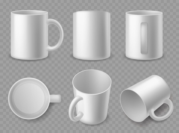 Illustration de conception de tasses blanches