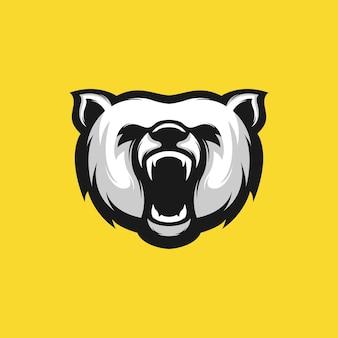 Illustration de conception tête d'ours en colère