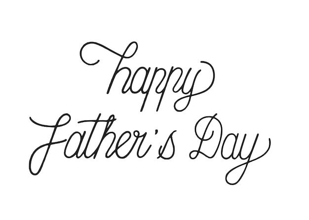Illustration de conception typographie fête des pères heureux