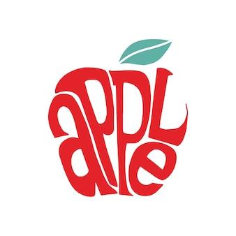 Illustration de conception typographie mot apple