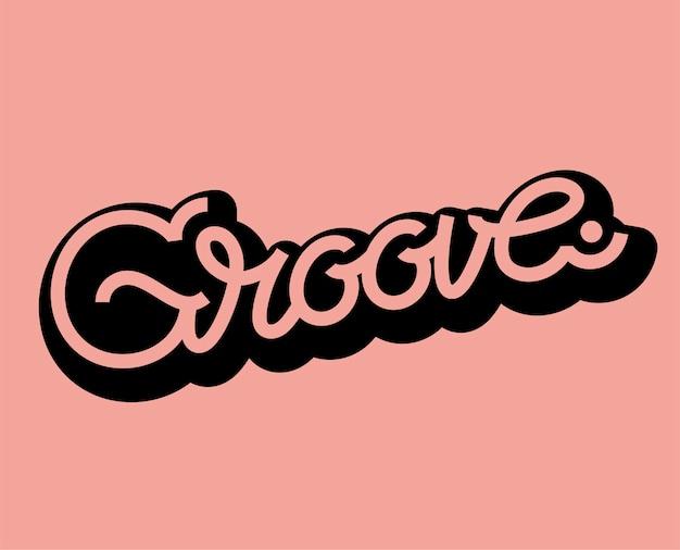Illustration de conception typographie mot groove
