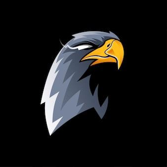 Illustration conception de vecteur d'aigle