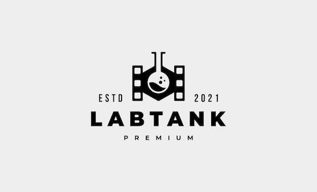 Illustration de conception de vecteur de logo de réservoir de laboratoire