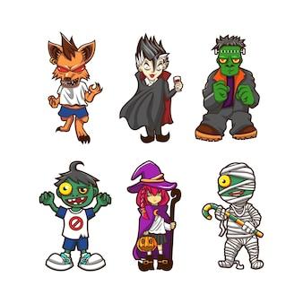 Illustration de la conception de vecteur de monstre helloween