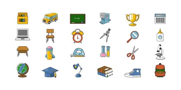 Illustration de la conception de vecteur d'outils d'éducation