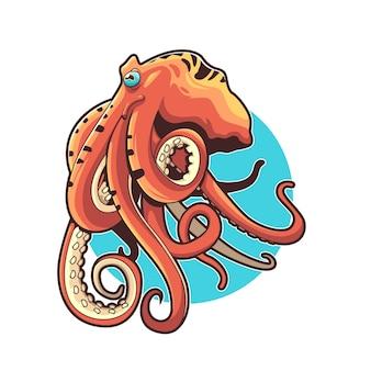 Illustration de la conception de vecteur de poulpe bon pour le tshirt