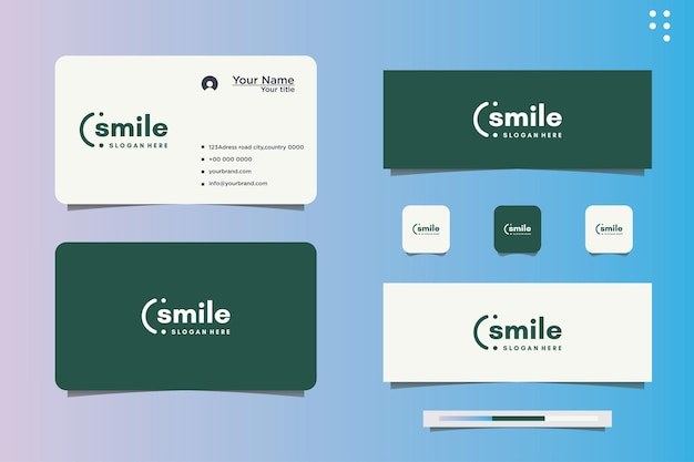 Illustration de conception de vecteur de sourire et de carte de visite