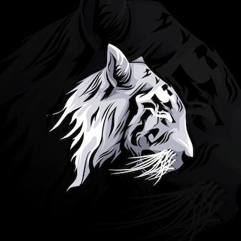 Illustration de conception de vecteur de tête de tigre
