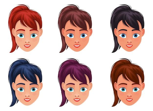 Illustration de conception de visage de femme isolée