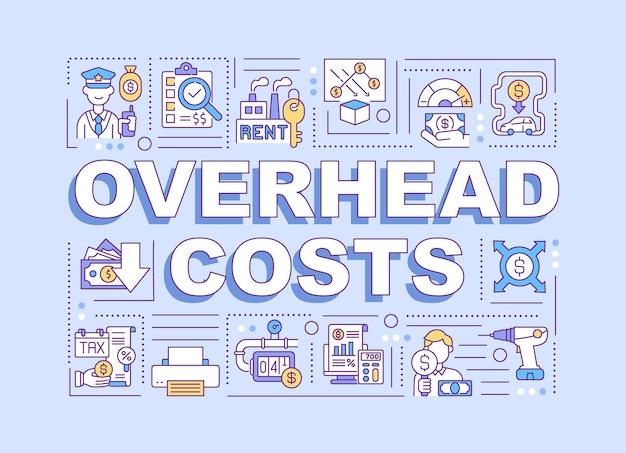 Illustration de concepts de frais généraux
