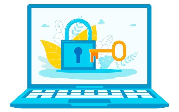 Illustration conceptuelle du mot de passe du système informatique