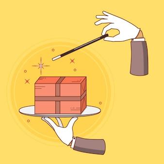 Illustration conceptuelle de vecteur de livraison rapide.
