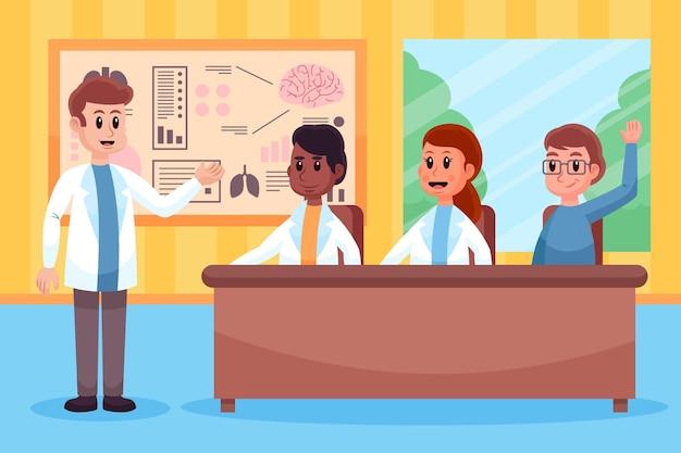 Illustration de la conférence médicale de dessin animé