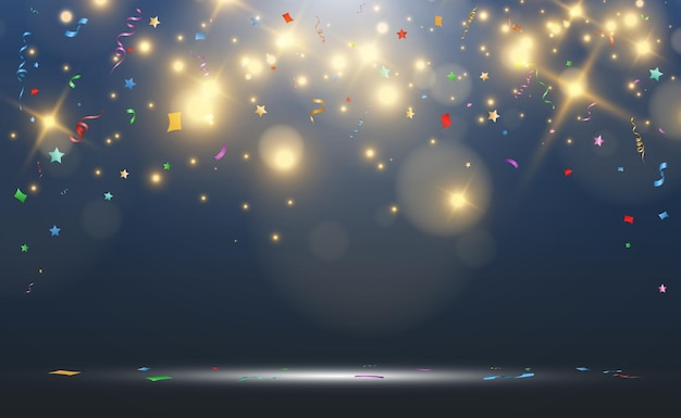 Illustration de confettis tombant