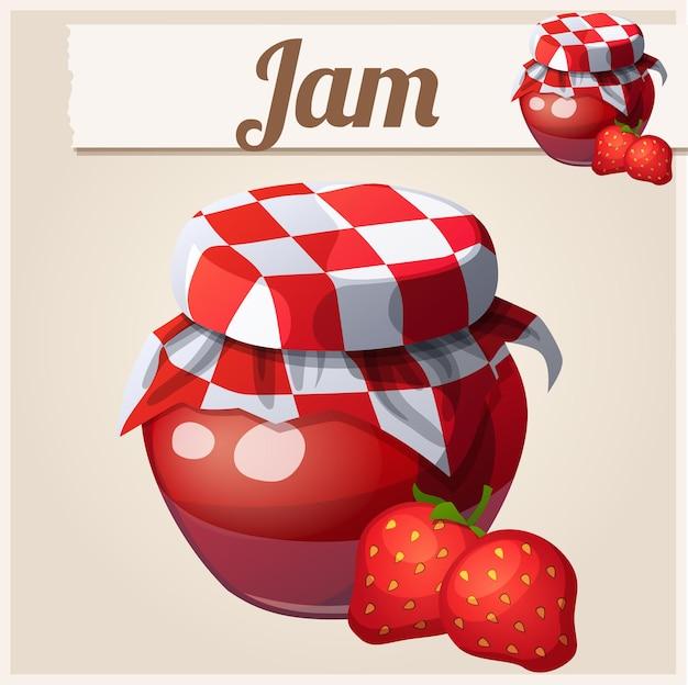 Illustration de confiture de fraises