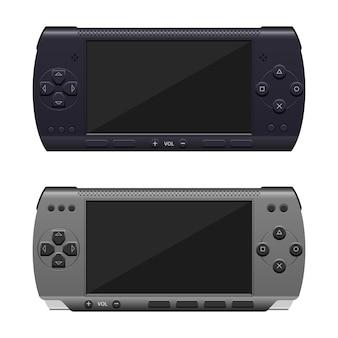 Illustration de la console de jeu sur fond blanc