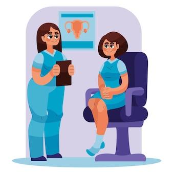 Illustration de consultation de gynécologie