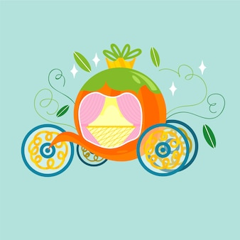 Illustration de conte de fées créative de transport de citrouille