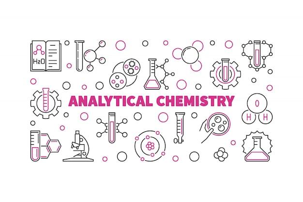 Illustration de contour de chimie analytique.