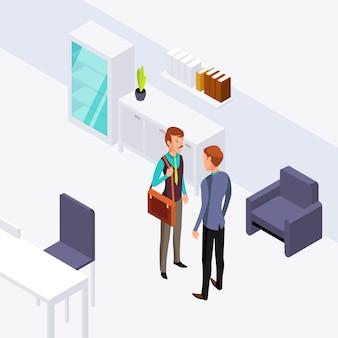 Illustration de conversation deux bureau d'affaires