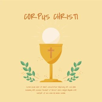 Illustration de corpus christi dessiné à la main