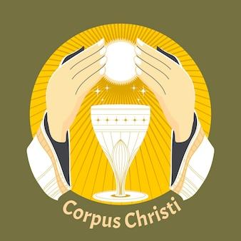 Illustration de corpus christi plat organique