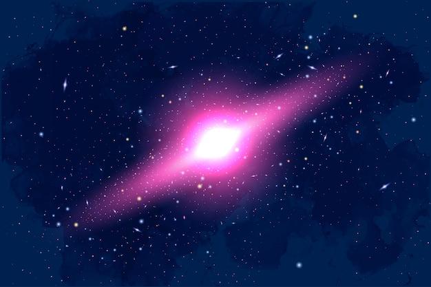 Illustration de la cosmologie vectorielle avec univers