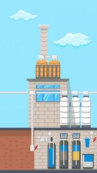 Illustration couleur du système de traitement de l'eau