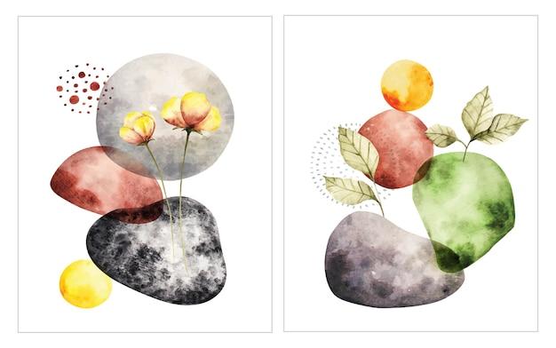 Illustration de couleur de l'eau de forme abstraite
