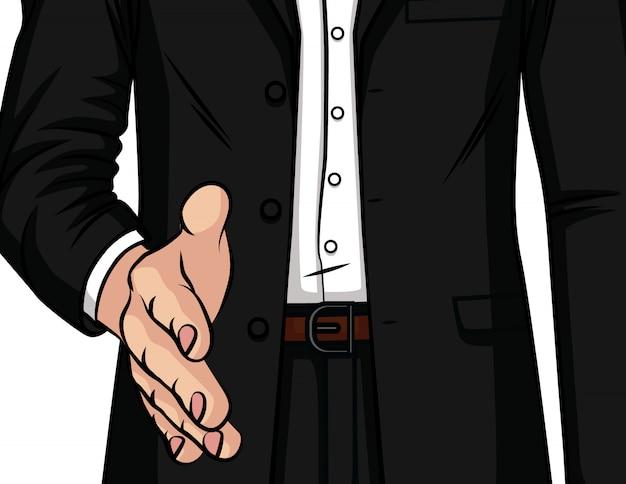 Illustration de couleur de vecteur. la poignée de main masculine.