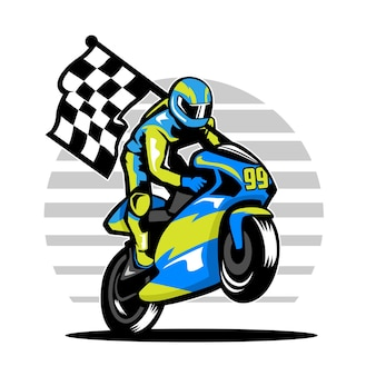 Illustration de coureur de moto