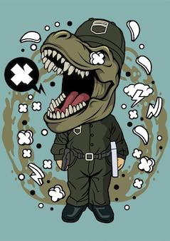 Illustration de courrier de dinosaure