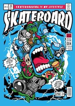 Illustration de couverture de bande dessinée bouche main