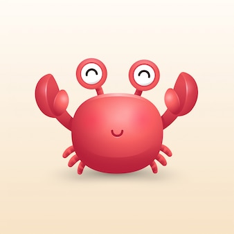 Illustration de crabe mignon 3d