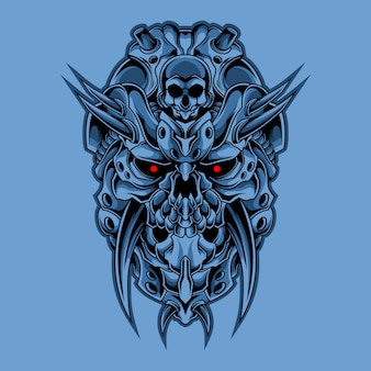 Illustration de crâne cyber