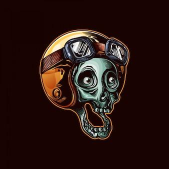 Illustration de crâne dessiné à la main
