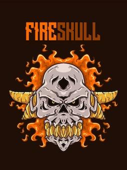 Illustration de crâne de feu