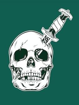 Illustration de crâne d'halloween