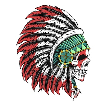 Illustration de crâne indien
